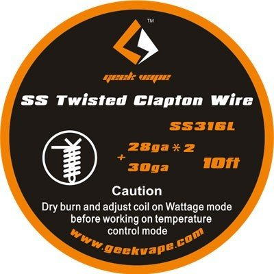 GeekVape Twisted Clapton SS316 (28GA*2/Twisted + 30GA) 3m