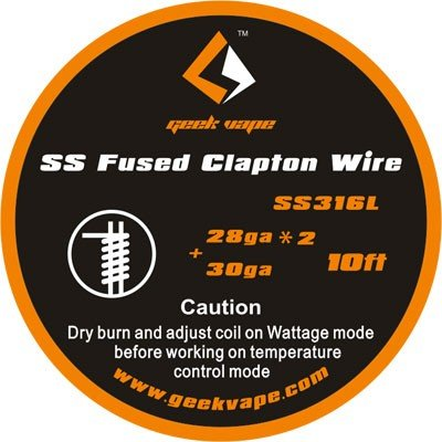 GeekVape Fused Clapton SS316 (0.32mm*2/Paralleled + 0.25mm) 3m