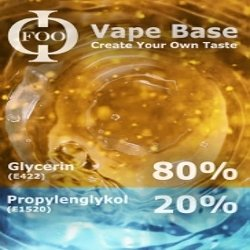 Base 80% VG 20% PG 500ml /0mg